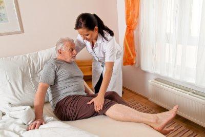 Caregiver Helping Elderly Man in Memphis, TN