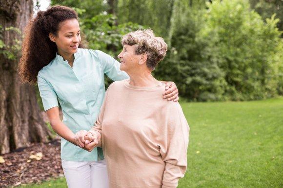 Nurse Caring for an Elderly Lady in Memphis, TN